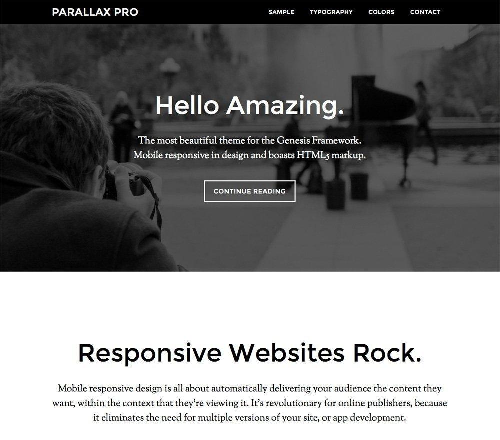 parallax-tema